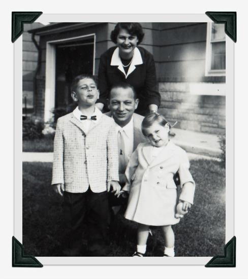 vintage photo family 1950s