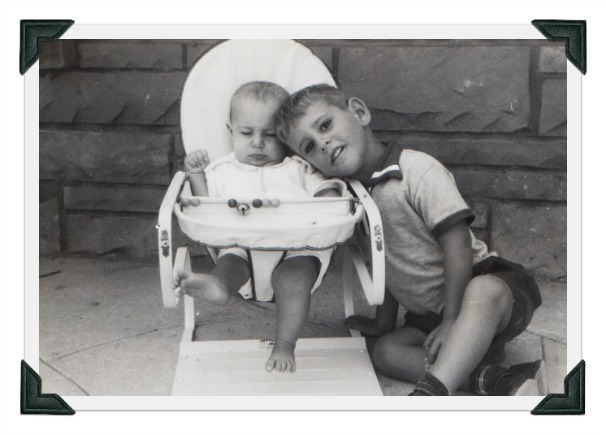 vintage 1950s photo brother and sister