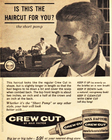 Vintage Ad 1961 Max Factor Crew Cut Butch wax