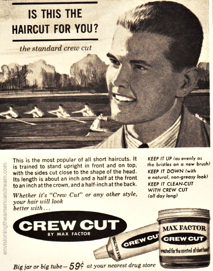 Vintage Ad 1961 Crew Cut Butch wax Illustration teenage boy