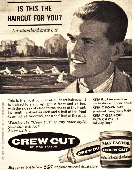 Vintage Ad 1961 Crew Cut Butch wax Illustration teenage boy