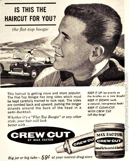 Vintage Ad 1961 Max Factor Crew Cut Butch wax