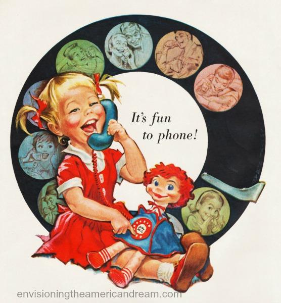 vintage Telephone ad 1958