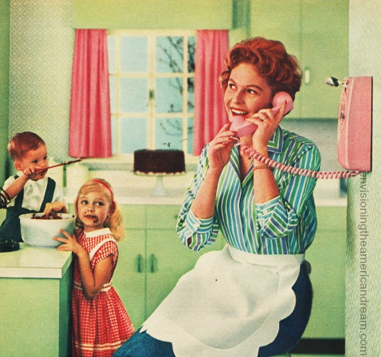 Vintage Bell Telephone ad 1956