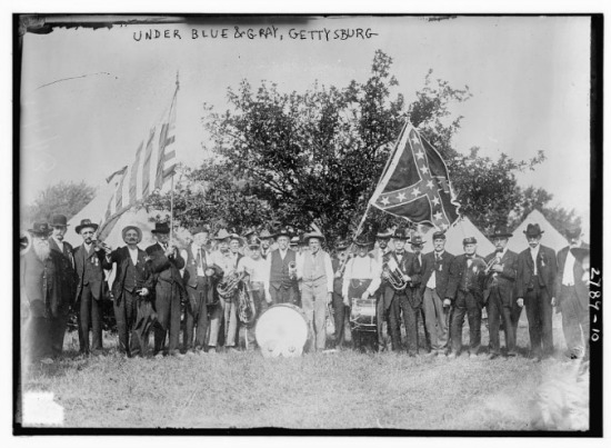 Soldiers reunion at the Gettysburg Jubilee celebration 1913
