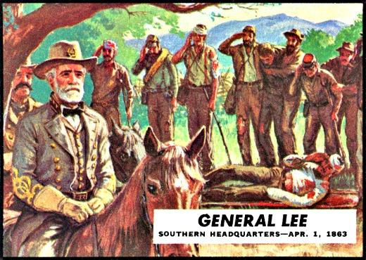 Vintage Civil War Trading Card Robert E. Lee