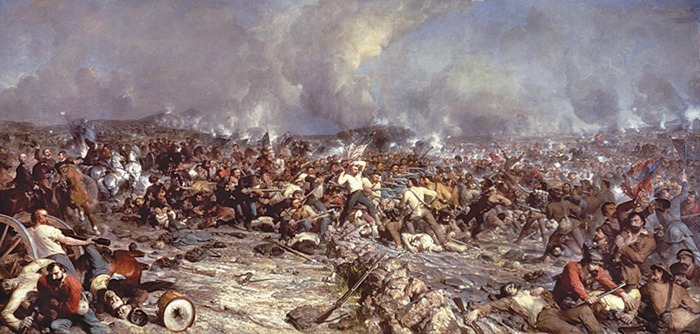 Pickett's Charge- Painting from Gettysburg Museum of History