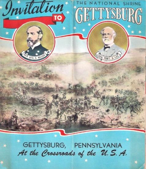Vintage Brochure to visit Gettysburg