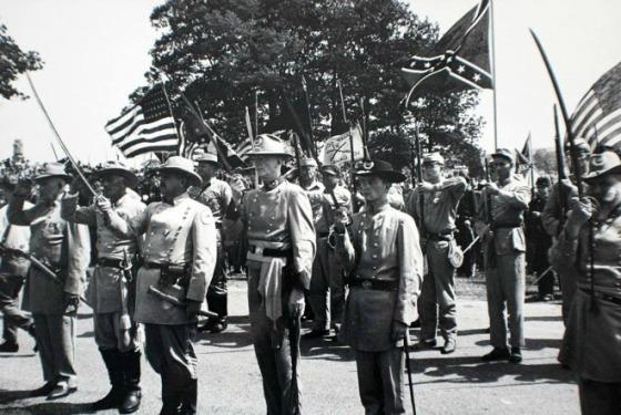 Civil War re-enactors at the Gettysburg Centennial Celebration.