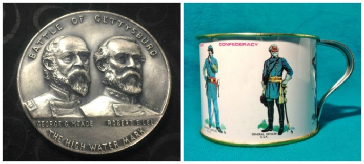 Vintager Solver Civial war Centennial Medal and Souvenir Civil war Cup