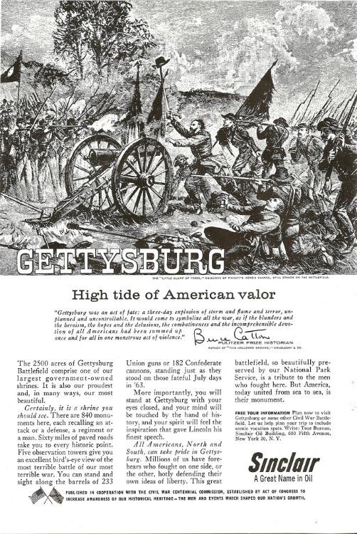 Vintage ad Cival war Centennial Gettysburg