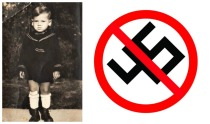 child holocaust DP Camp swastika