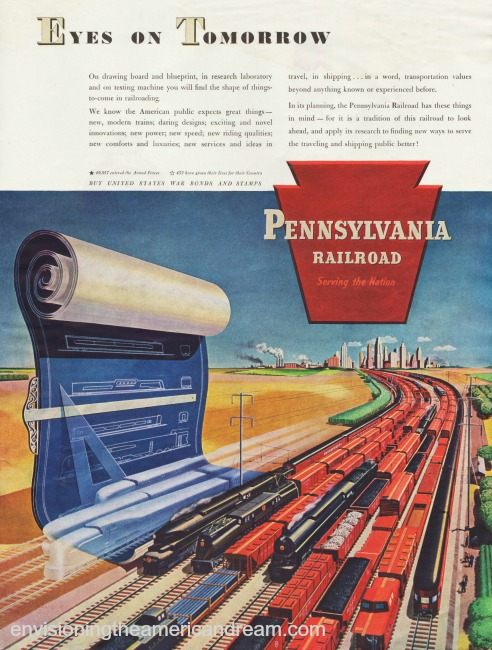 Vintage Ad 1945 Pennsylvania Railroad