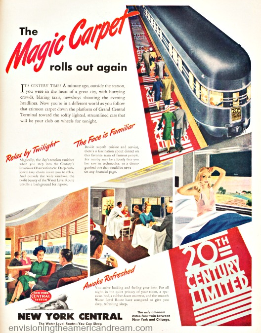 Vintage ad 20th Century Limited New York Central 1946