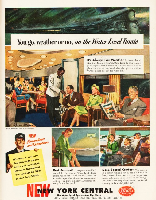 Vintage ad New York Central 1947