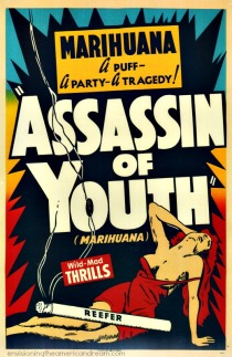 vintage poster Marijuana movie