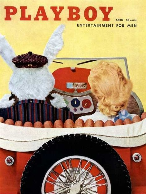 Playboy Magazine cover April 1957