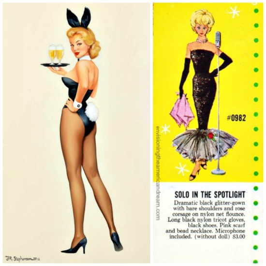 vintage Playboy Bunny and Barbie Fashions