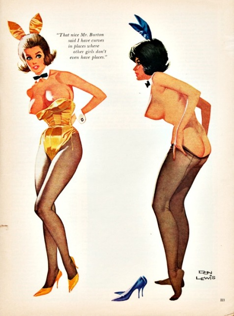 vintage Playboy cartoon 2 Playboy Bunnies