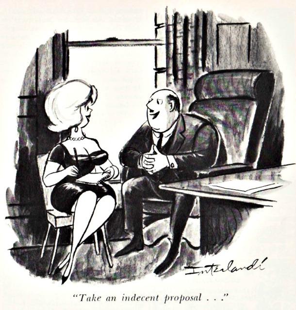 Vintage cartoon Playboy Magazine April 1966