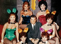 Playboy Hugh Hefner and Playboy Bunnies 1960