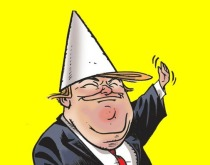 Cartoon Donald trump Dunce cap