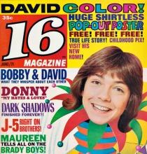 David Cassidy 16 Magazine 1971r