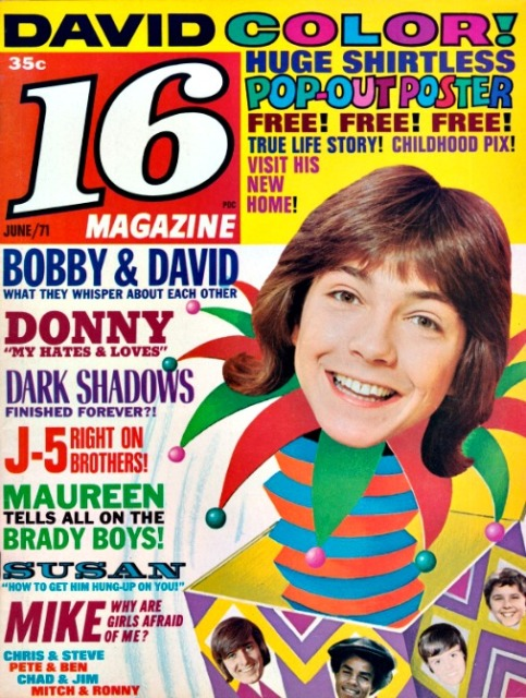 Teen Magazine 16 cover with david Cassidy