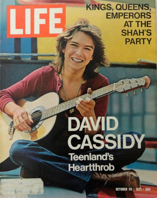 Life Magazine David Cassidy Cover Teenlands Heartthrob 1971
