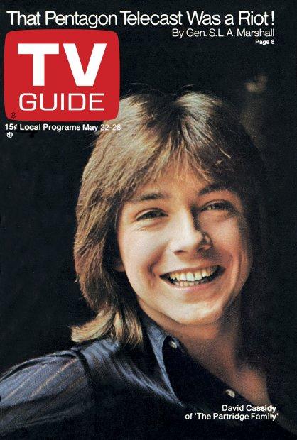 TV Guide Cover David Cassidy 1971