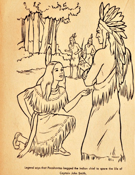 Pocahontas Coloring Book Page Envisioning The American Dream