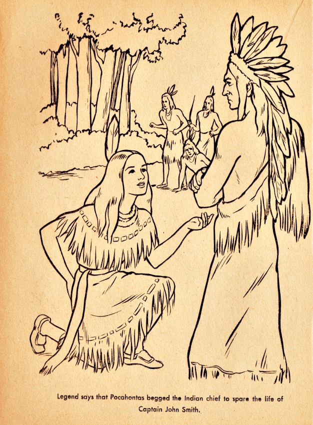 Pocahontas coloring book SWScan07279 | Envisioning The American Dream