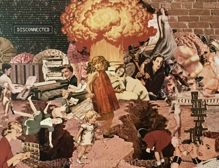 art collage Sally Edelstein Traumativ Memory