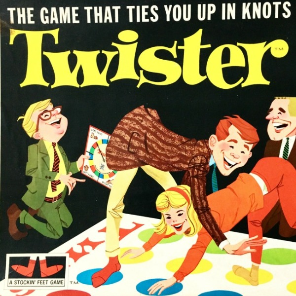 Board game Twister 1966