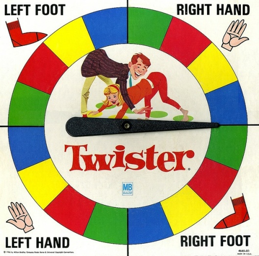 Spinner for Twister Board game