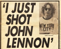 Newspaper headline John Lennon Shot