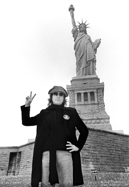 John Lennon Statue of Liberty