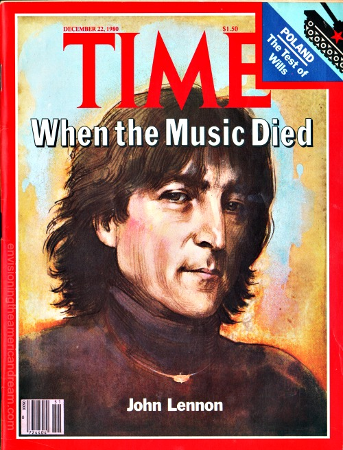 Time Magazine December 22, 1980 John Lennon illustration by Daniel Maffia