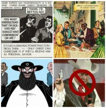 Roy Moore anti gay, Jewish cartoons