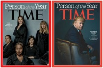 Time Magazine Cover person of the Year 2016,2017 Trump and Silence Breakers