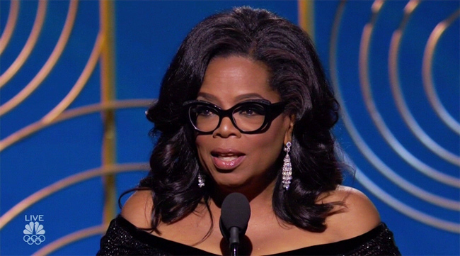 Oprah Winfrey at the 75th Golden Globes Award Photo:NBC