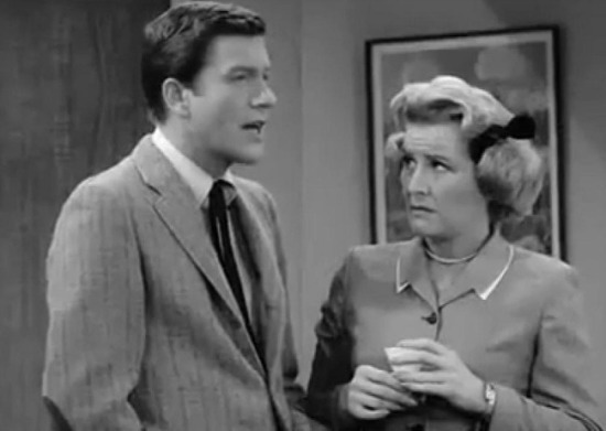 Rose Marie as Sally Rogers and Dick Van Dyke on Dick Van Dyke Show