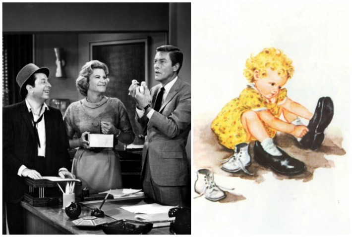 Rose Marie as Sally Rogers on Dick Van Dyke and vintage childrens illustration Sally