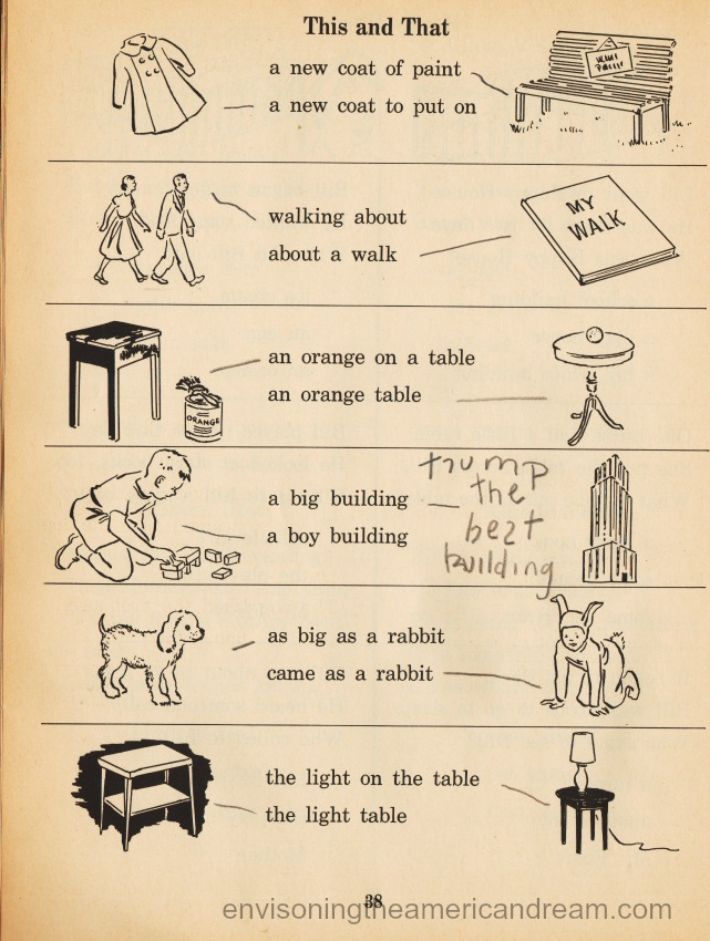 vintage school workbook 1950s