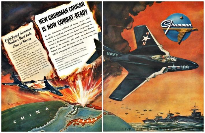 Vintage ad Grumman 1951 Fighter jets