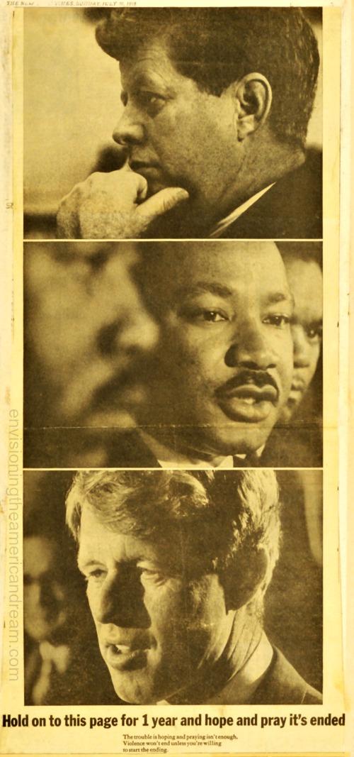 Vintage 1969 Ad End Gun VIolence JFK, RFK, MLK