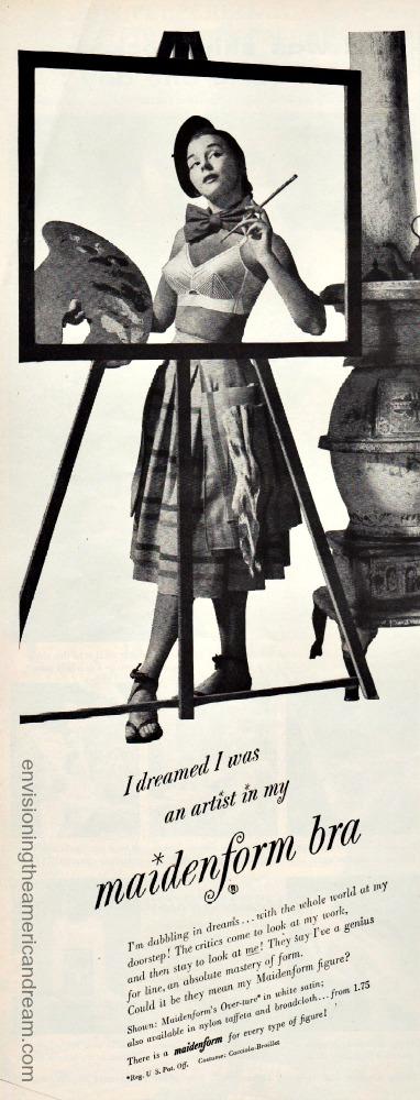 Vintage Maidenform Ad I Dreamed Artist 1950s