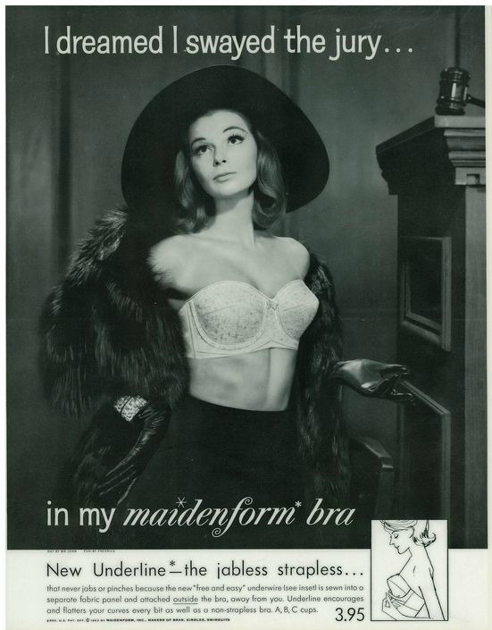 Vintage Maidenform Bra Dream Ad 1960s