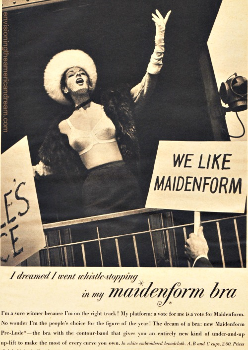 Vintage ad Maidenform I Dreamed Politics