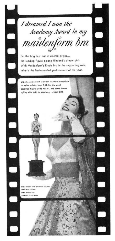 vintage Maidenform Bra Ad I Dreamed Academy Awards